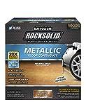 Rust-Oleum 299741 Rocksolid Metallic Garage Floor Coating, 70 fl oz, Amaretto, 70 Fl. Oz