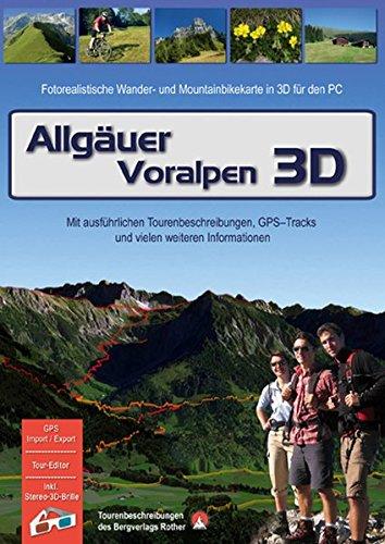Allgäuer Voralpen 3D. Für Windows Vista / XP: Fotorealistische Wander- und Mountainbikekarte in 3D für den PC. Tourenbeschreibungen - Hütten - Orte - Berggipfel - Seen und vieles mehr