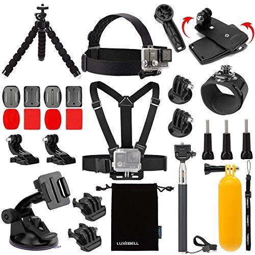 Luxebell Accessories Kit for AKASO EK5000 EK7000 4K WiFi Action Camera GoPro Hero 9 8 7 6 5/Session 5/Hero 4/3+/3/2/1 Max Fusion SJ4000 SJ5000