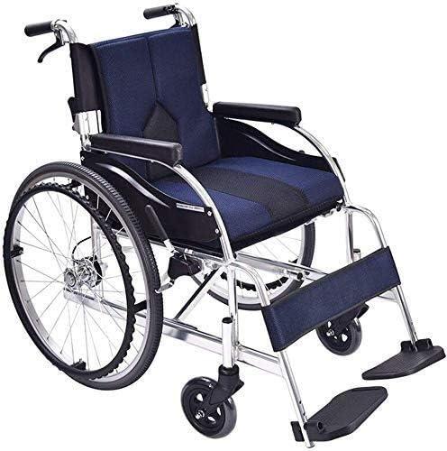 JKCKHA Foldable Self-propelled Lightweight Bombing new work Long Beach Mall Aluminum Wheelchair