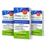 Prevagen Improves Memory - Regular Strength 10mg, 60 Capsules |3 Pack| with Apoaequorin & Vitamin D | Brain Supplement for Better Brain Health, Supports Healthy Brain Function
