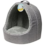 Me and My Pets Soft Grey Fleece Cat Igloo Bed