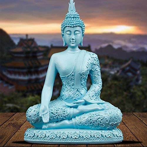Decorazione di statue creative Artigianato di decorazione per interni/esterni, Statua di Buddha Seduta e sdraiata Manuale di meditazione Feng Shui Craft Office CA