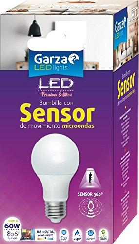 Garza Lighting LED-lamp met magnetronsensor, E27, 10 W, neutraal licht 4000 K