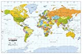Political World Wall Map, French Language - 40.75' x 27' Paper