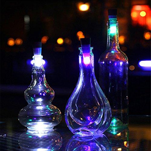 JAYLONG 4 Unids Tapón De Corcho Botella De Vino LED 7 Colores USB Recargable Lámpara De Luz De Noche Creativa Ambiente Romántico Decoración del Partido