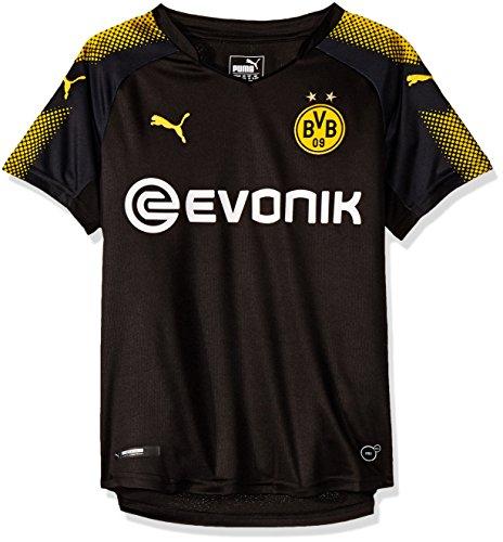 PUMA Jungen T-Shirt BVB Kids Away Replica Shirt with Sponsor Logo, puma Black-Cyber Yellow, 176, 751683 02