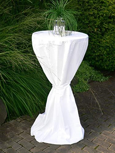 DEGAMO Husse für Stehtisch mit 80cm Durchmesser, Weiss
