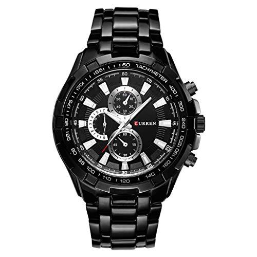 UINGKID Herren Uhr analog Quarz Armbanduhr wasserdicht Uhren Casual Business Uhr Quartz Waterproof Steel Bel