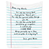 ukebobo Flannel Blanket – Gift from Niece to Aunt, Personalized Fleece Blanket for Birthday, Anniversary, Holiday, Valentine's Day – 1 Sheet(s1)