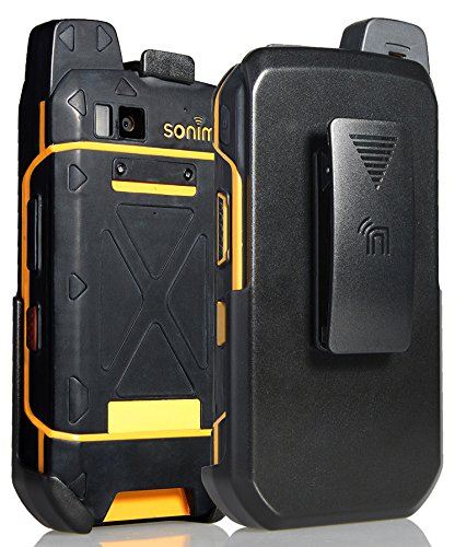 Sonim XP7 Nakedphone/Schutzhülle für Sonim XP7 Phone (XP7700), mit Gürtelclip, mit Standfunktion, Schwarz
