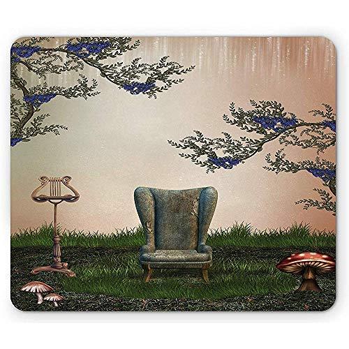 Alfombrilla de ratón Vintage Lámpara de sillón de sofá Antiguo Antiguo Retro...