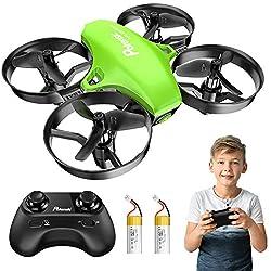 Potensic Mini Drohne für Kinder und Anfänger mit 2 Akkus, RC Quadrocopter, Mini Drone mit Höhenhaltemodus, Start / Landung mit einem Knopfdruck, Kopflos Modus, Spielzeug Drohne Helikopter A20 Grün