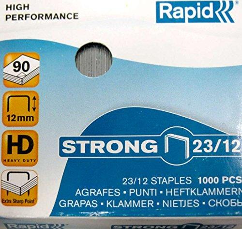 Rapid Heftklammern (23/12 mm, Strong, verzinkt) 1000 Stück