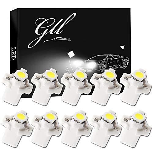 10 bombillas LED T5 B8.5D para salpicadero cuadro instrumentos SMD blanco bombillas luces