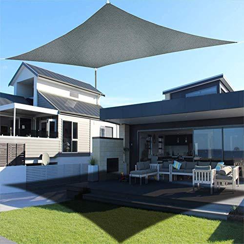 GJXJY Toldo Vela de Sombra 3x5 M, Impermeable Toldos Protección Rayos UV y HDPE Transpirable para Exterior, Jardín, Terrazas