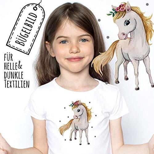 ilka parey wandtattoo-welt Bügelbilder Applikation Pferd Pferdchen Bügelbild Patch Bügelmotiv Aufbügelbilder Kissen Shirt Taschen bb173 - ausgewählte Größe: *Gr.2 - ca. 12,5cm x 10cm*