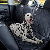 Kululu Dog Car Seat Cover for Back Seat, Heavy Duty Waterproof Scratchproof and Non Slip Pet Seat Cover with Mesh Window for Stress Free Travel, Backseat Hammock Protector for Cars, Trucks, SUV's
