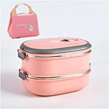 WCHCJ Lunch Box Stainless Steel Portable Picnic Office School Food Storage for Woman Man Kids Leakproof Bento Box (Color :...