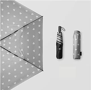Household Umbrella Ultralight Portable Umbrella Sun Protection UV Umbrella Rain and Rain Umbrella Multicolor Optional Huhero (Color : Gray)