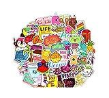 AllRing Sticker Pack (100 PCS) Vinilo Pegatinas para portátiles, Botellas de Agua, Equipaje, monopatín, PS4, Xbox One, iPhone, los Mejores Regalos para Adultos, Adolescentes, niños y niñas (Style 1)