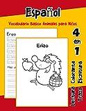 Español Vocabulario Basico Animales para Niños: Vocabulario en Espanol de preescolar kínder primer Segundo Tercero grado: 34 (Vocabulario animales para niños en español)