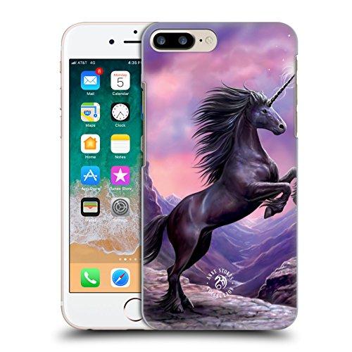 Head Case Designs Oficial Anne Stokes Unicornio Negro Criaturas Míticas Carcasa rígida Compatible con Apple iPhone 7 Plus/iPhone 8 Plus