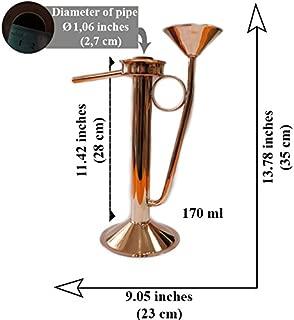 Copper Moonshine Parrot spout Distilling Universal Moonshine Alcohol + Hydrometer 40-70 (9.05