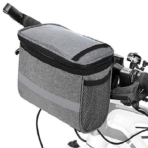 Lixada Bike Frame Bag-Bicycle Handlebar Bag-Bicycle Triangle Bag- Bike Front Tube Bag- Bike Pannier Bag-Bike Baskets Bag with Reflective Stripe (Optional)