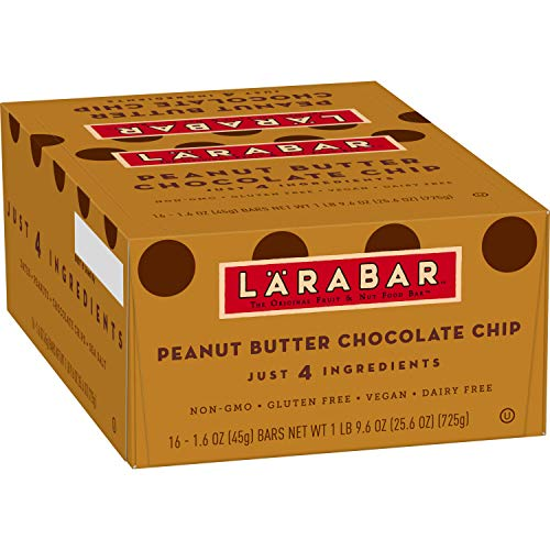Larabar Gluten Free Bar Peanut Butter Chocolate Chip, 1.6 oz Bars (16 Count)