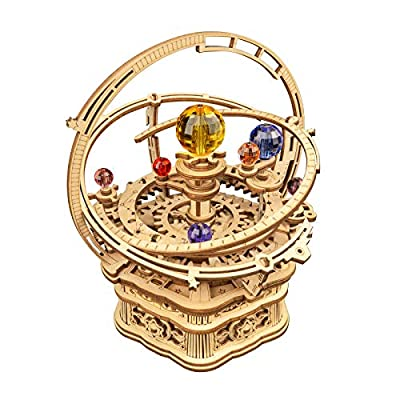 ROKR 3D Wooden Puzzles Model Building Kits Mechanical Music Box Kits Creative Gift for Kids on Birthday/Christmas Day