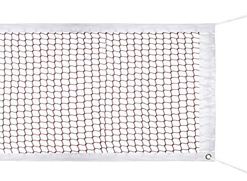 SIVENKE Badminton Netz Nylon Sport Net für Indoor/Outdoor Garden Schulhof 610 x 76cm Rot (Ohne Gestell)