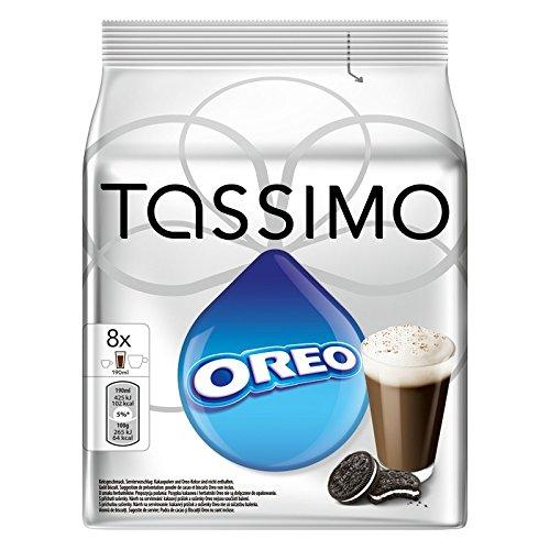 5 X Factory verzegeld Pack Tassimo T-Disc Pods Oreo Cookies Hot Chocolate – 8 porties inclusief Creamer Pods