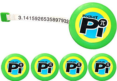 NumbersAlive! Novelty Tape Measure (Set of 5) – 400+ Digits of Pi, For Math Lovers, Students