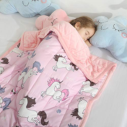 Haowaner Minky Kids Weighted Blanket 5lbs 36 x 48 inches, Soft Kids...