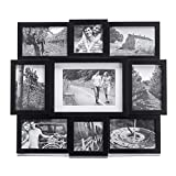 Malden 9-Opening Collage Picture Frame, Made to Display One (1) 5' x 7', Two (2) 4' x 4' and Six (6) 4' x 6', Black
