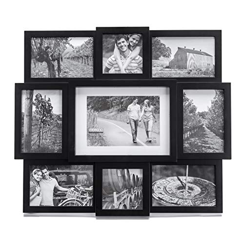 Malden 9-Opening Collage Picture Frame, Made to Display One (1) 5' x 7',...