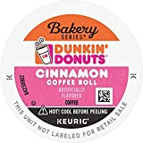 Dunkin' Bakery Series Cinnamon Coffee Roll Flavored Coffee, 10 K Cups for Keurig Coffee Makers