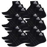 adidas 18 Paar Performance Sneaker/Quarter Socken Unisex Kurzsocke, Farbe:Black, Socken &...