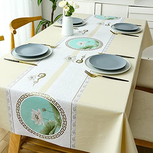 PhantasyIsland.com Manteles Rectangular de Algodón para Mesa de Comedor Decoración del Hogar Cena140*220cm