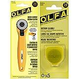 オルファ(OLFA) ロータリーファブリックカッター 28mm 替刃5枚付き キルティング 裁縫 工芸用