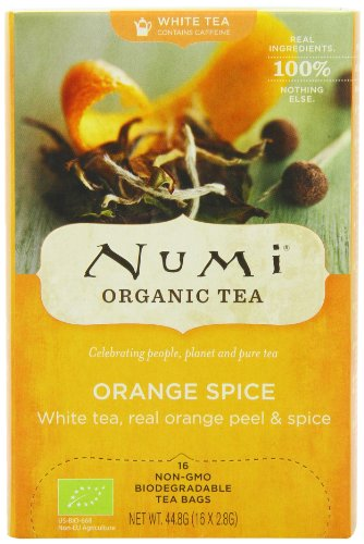 Numi Organic White Orange Spice - Moonlight Spice 16 Beutel, 2er Pack (2 x 45 g) - Bio