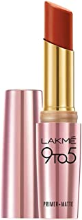 Lakme 9 to 5 Primer + Matte Lip Color, Red Rust, 3.6 gm