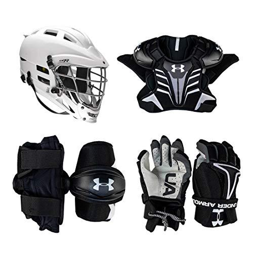 Under Armour Strategy Youth Lacrosse Starter Set 4-Piece (Cascade CS-R Helmet) - No Stick-Adult-Medium
