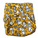 Tushions SimpL Diaper Cover One Size FIts 5-15 Kgs (Sunskriti) with one Staydry