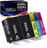 Zamb-rero 934 935 Kompatible Druckerpatronen Ersatz für HP 934XL 935XL Multipack, für HP Officejet Pro 6230 6830 6835, HP Officejet 6220 6812 6815 6820 (2BK,1C,1M,1Y)