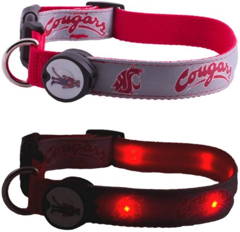 DogEGlow Washington State University Cougars Lighted LED Dog Collar, Medium, 10Inch by 15Inch