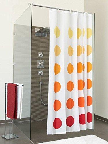 SANWOOD Duschvorhang Point BxH 180x200 cm Badewannenvorhang Wannenvorhang Textilvorhang Dusche Vorhang für die Dusche