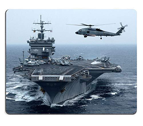 Alfombrilla de ratón para Juegos Fuerzas Armadas estadounidenses Personalizadas Portaaviones Combatientes Helicópteros Mar Diseño Personalizado