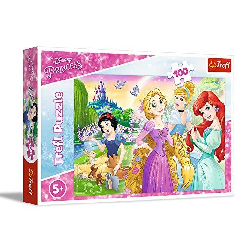 Trefl, Puzzle, Einmal Prinzessin sein, 100 Teile, Disney Princess, für Kinder ab 5 Jahren